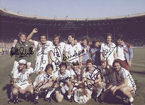 LIMITED EDITION WEST HAM UNITED 1980 FA CUP FINAL SQUAD SIGNED FOTOGRAPH + CERT gedrukt AUTOGRAPH
