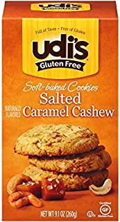 Udi's Gluten Free Soft-Baked Salted Caramel Cashew Cookies, 9.1 Ounce