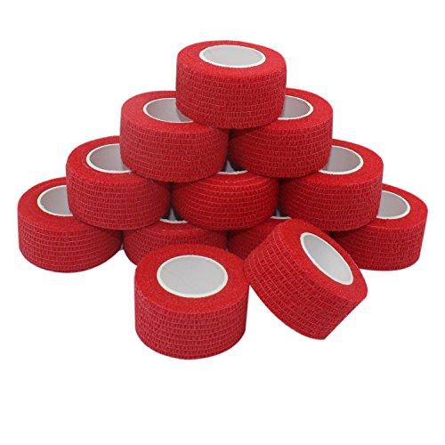 COMOmed selbstklebender verband elastische binde handgelenk bandage pflaster rolle Dog Bandagen Tierische Bandagen Rot 2.5 cm X 4.5 m 12 Bände