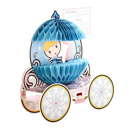 3D Sculpture Verjaardagskaart voor kleindochter van Hallmark - Disney Princess Paper Wow Design