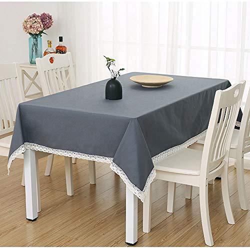 Katoen en linnen rechthoekig tafelkleed, niet vervagen en anti-rimpel, zeer geschikt voor keukenblad Buffet Decoratie (verschillende stijlen zijn beschikbaar) AA~