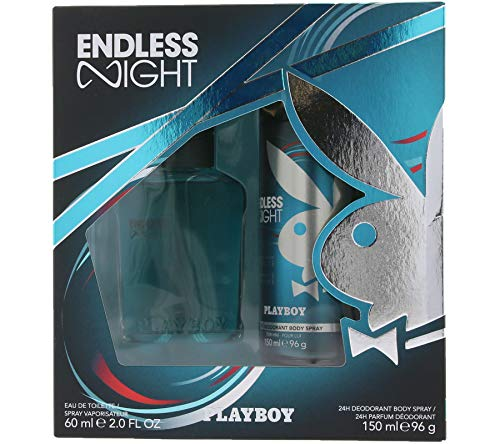 PLAYBOY Endless Night eau de toilette et déodorant pour homme dans un coffret cadeau cool 60 ml / 150 ml
