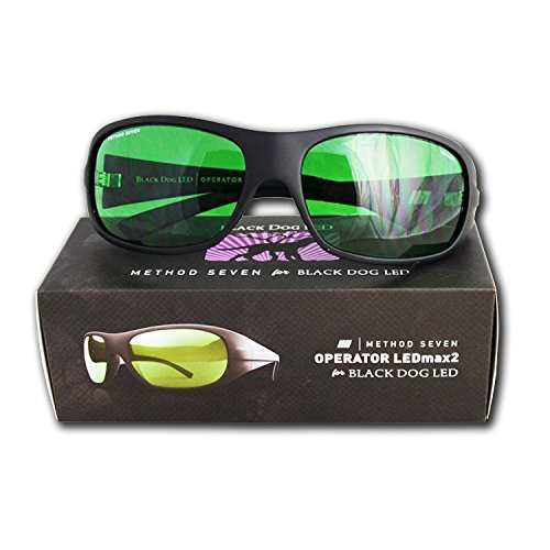 Black Dog LED Grow Glasses, Horticulture Grow Light Room Glasses, PhytoMAX-2 Spectrum Compatible