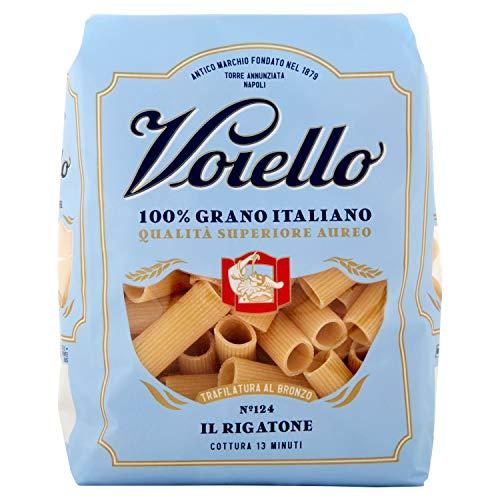 Voiello Pasta Rigatoni Romani Semola di Grano Aureo 100% Italiano, 500 gr