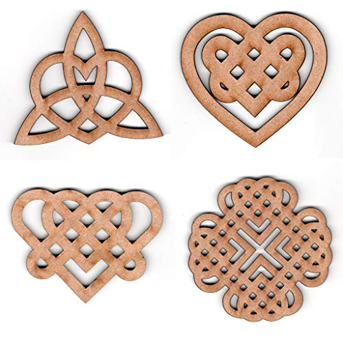 EP Laser Celtic Knot Heart Ornaments (Style 2)