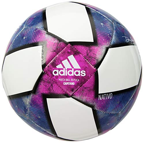 MLS Capitano Soccer Ball, White/Black/Purple, 3