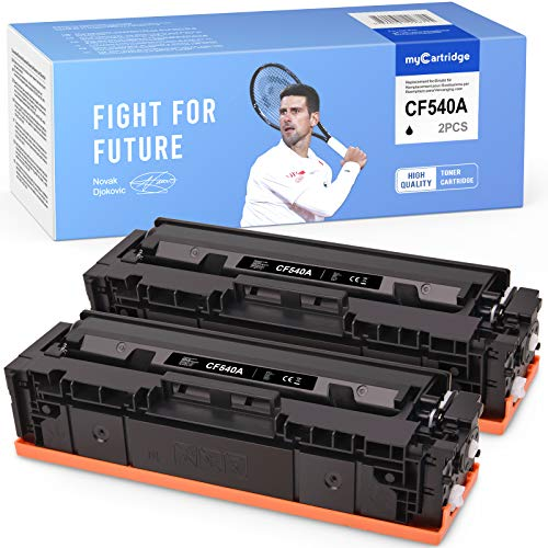 MyCartridge Toner Kompatibel zu HP 203A CF540A für HP Color Laserjet pro MFP M281fdw M280nw M281fdn HP Laserjet M254nw M254dw (2 Schwarz)