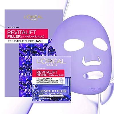 L'Oreal Revitalift Filler Hyaluronic Acid Re-Usable Sheet Face Mask + Pot Mask 50ml (Amazon Exclusive)