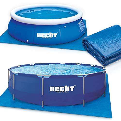 Hecht Bodenschutzplane für den Gartenpool Schwimmbecken – 2 Poolmatten mit 390 x 390 cm und 309 x 309 cm zur Auswahl – extrem robust & langlebig – 90g/qm PE- Folie Unterlegmatte (390 x 390 cm)