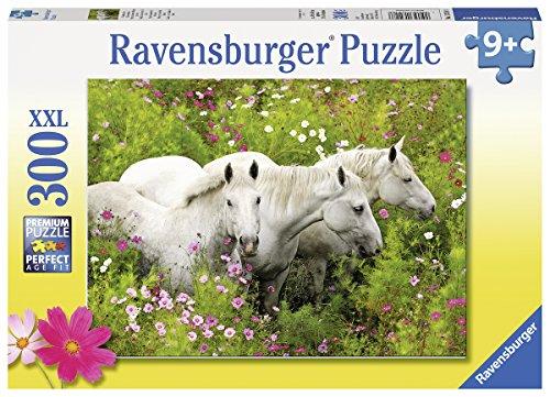 Ravensburger Kinderpuzzle 13218 - Pferde auf der Blumenwiese - 300 Teile