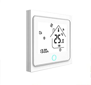 CHUANG TIANG WiFi Programmable Thermostat, Boiler Thermostat LCD Display Temperature Controller Compatible with Alexa Google