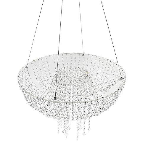 Romantic Wedding Faux Acrylic Crystal Chandelier Style Drape Suspended Cake Swing (Crystal, DIA17.7) WEPDIY