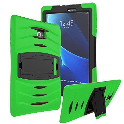KIQ Samsung Galaxy Tab E 9.6' SM-T560 Case, Shockproof Heavy Duty Military Armor Hybrid Case Cover Rugged Impact Drop Protection for Samsung Galaxy Tab E 9.6 T560 T560NU T560NZ T567 (Green