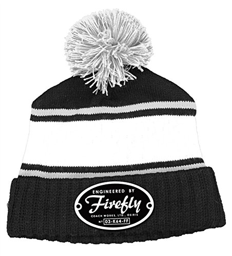 Firefly Engineered Logo Knit Pom Beanie Hat