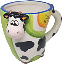 3D Coffee Cup in the shape of a cow. Distinguish and extinguish the joy in the morning when drinking milk or hot chocolate...