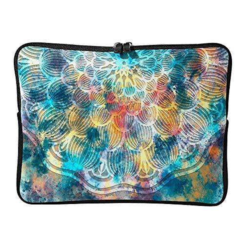 Estándar Magic colorido portátil bolsas multicolor ligero - fundas de tableta de lujo adecuadas para viajeros, blanco (Blanco) - BTJC88-DNB-8