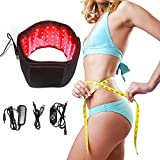Red & Infrared Light Therapy Belt for Pain Relief Home Use Flexible Wearable Wrap Deep Therapy Massager Device for Back Shoulder Joints Muscle Therapy (Black)