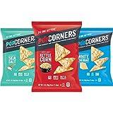 Popcorners  Snacks Variety Pack   Gluten Free Chips Snack Packs   Kettle Corn, White Cheddar, Sea Salt   (18 Pack, 1 oz Snack Bags)