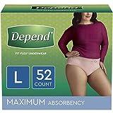 Depend FIT-FLEX Incontinence & Postpartum Underwear for Women