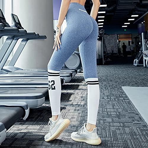 bayrick Nalgas de melocotón Sexy,Nuevo Contraste Color Impresión Digital Pantalones Yoga Pantalones de Yoga Cómodo de Verano Moda Transpirable-B_Metro