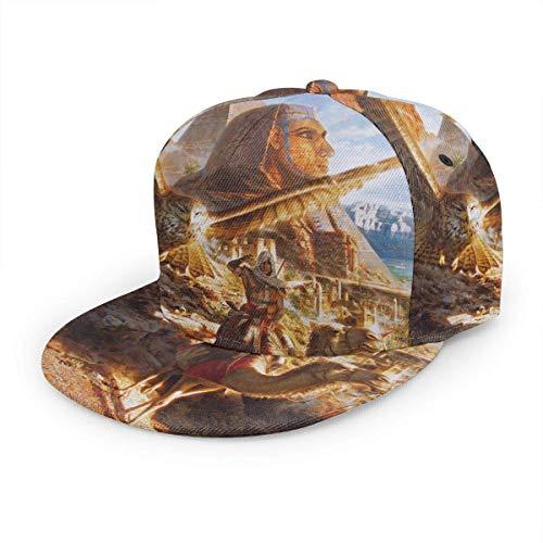 Gorra de béisbol clásica para Adultos Assassin'S Creed Origins Sombreros Unisex de Hip Hop con diseño de Pico Plano Snapback
