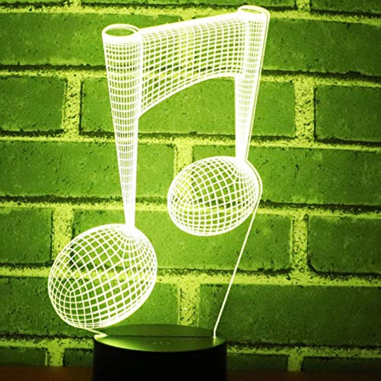 Sakj-d 3D Led Nachtlicht Music Note Mit 7 Farben Licht Für Heimtextilien Lampe Erstaunliche Visualisierung Optische Tuschung Awesome
