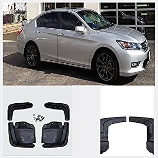 VioGi New Set of 4 Front & Rear Mud Flaps Guards Splash Flares+Screws+Clamps Without Flares Rear For 12-15 Honda Civic Sedan