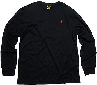 Polo Ralph Lauren Men's V-Neck Long Sleeve T-Shirt Classic Fit Black