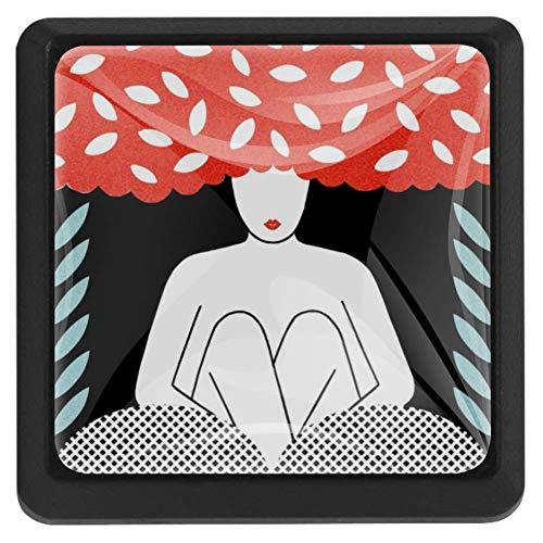 Bennigiry Gallery of Astrology Love Quadratische Kristallglas-Türknöpfe, Ziehgriffe, ergonomische Schubladengriffe, 3 Stück