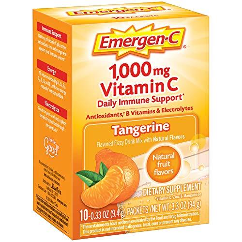 Emergen-C Integratore alimentare con 1000mg di vitamina C (mandarino Sapore, 10-Count 0,33 once pacchetti, pacchetto di 3)