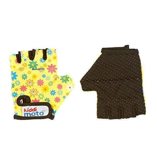 KIDDIMOTO GLV015M - Handschuhe Blumen, Größe M, weiß