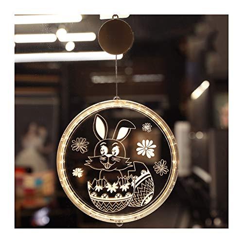 Niazi Hermosa luz LED colgante luces pared habitación pegatinas decoración para casa Pascua holiday fiesta