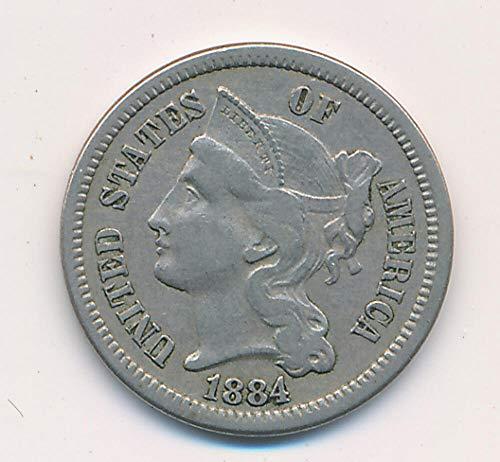 1884 P Three Cent Nickel Nickel RAW