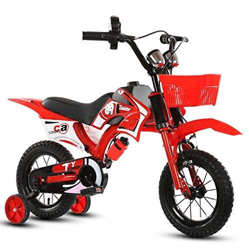 ZHEN GUO SHOP Kinder Motorrad Fahrrad Junge Baby Wagen Kinder Mountainbike 12 Zoll (Farbe : Rot)