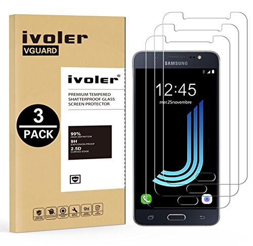iVoler [3 Pack] Vetro Temperato Compatibile con Samsung Galaxy J5 2016, Pellicola Protettiva, Protezione per Schermo