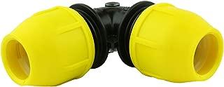 Underground IPS Yellow Poly Gas Pipe 90 Degree Elbow (1)