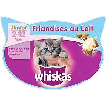 Animalerie WHISKAS - Friandises Au Lait Junior 55G - Lot De 4 - Vendu par Lot