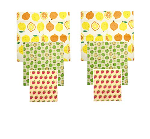 Reusable Beeswax Food Wrap, Pack of 6, Eco Friendly Food Wrap, Zero Waste, Plastic Free, Sustainable, Food Storage, Washable.