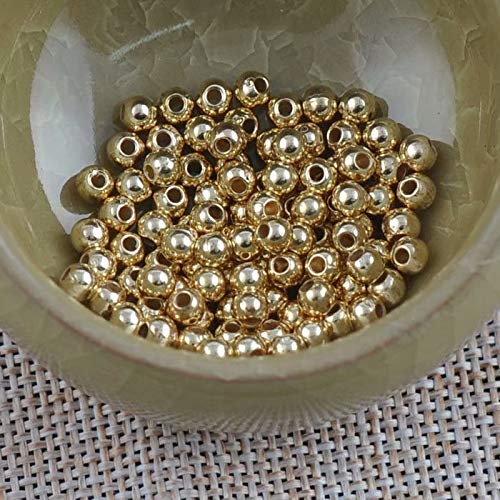 3MM US~~ 1000Pcs Round Metal Ball Spacer Beads DIY Jewelry Making Findings