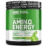 Optimum Nutrition ON Amino Energy, Pre workout en Poudre, Energy Drink avec Bêta-Alanine, Vitamine C, Caféine et Acides Aminés, Saveur Citron Jaune et Vert, 30 Portions, 270g, l'Emballage Peut Varier
