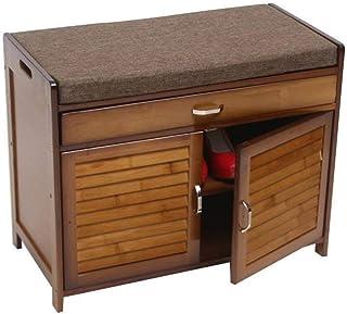 Zapateros Bambú Moderna cajón hogar Banco Mueble Multifuncional Minimalista