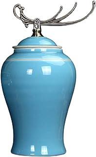 Alta oriental Florero de cerámica Jarrón de porcelana de la vendimia modernas minimalista nueva decoración tanque de alma...