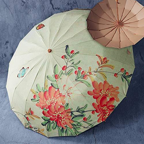 weichuang Paraguas paraguas triple plegable paraguas sunmmer paraguas uv paraguas de las mujeres paraguas colorido paraguas paraguas arco iris paraguas paraguas paraguas paraguas paraguas