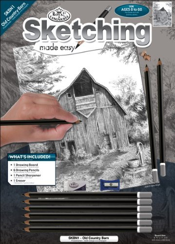 """Royal Brush - Sketching Made Easy Kit 8.75""""X11.375""""-Old Country"""