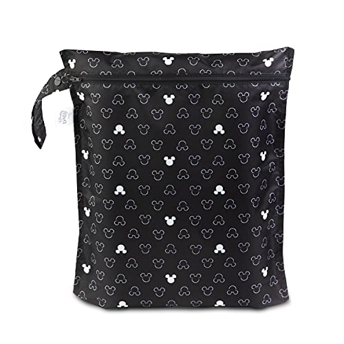 Bumkins Waterproof Wet Bag, Disney Washable, Reusable for Travel, Beach, Pool, Stroller, Diapers, Dirty Gym Clothes, Wet Swimsuits, Toiletries, 12x14