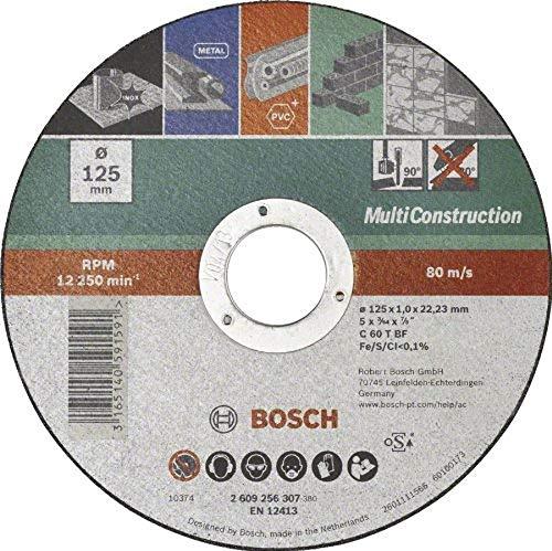 Bosch Mola da Taglio Dritta Multiconstruction 125 mm