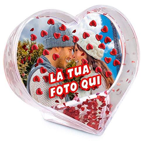 - sin Marca / Genérico - Globo Fotos Personalizado Corazón Marco Adorno Agua Purpurina Personalizado Estampado Foto Texto Idea Regalo San Valentín