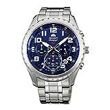 Orient Herren Chronograph Quarz Uhr mit Edelstahl Armband FKV01002D0