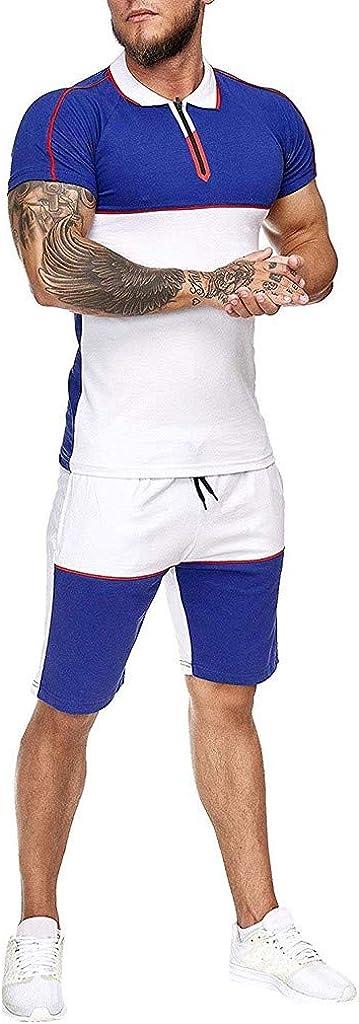 Washington Mall JSPOYOU Sale item Men Short Sleeve T-Shirt and Sportswear 2021 Shorts Set
