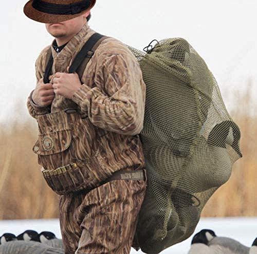 ZZUUS 30x40 Mesh Duck Goose Decoy Bag w/Draw String - Bird Hunting Gear Hunter Backpack Color Green